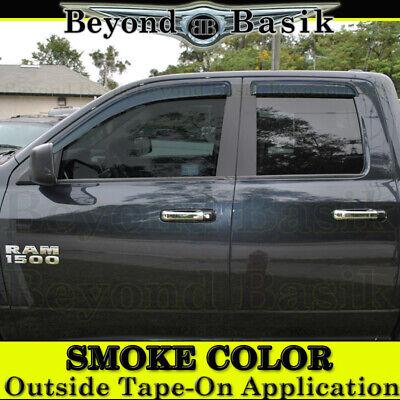 For 2009-2018 Dodge Ram 1500 EXTENDED-QUAD Cab Smoke Door Vent Window