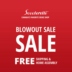 ELECTRIC BIKE SALE - FREE SHIPPING & ASSEMBLY - SCOOTERETTI