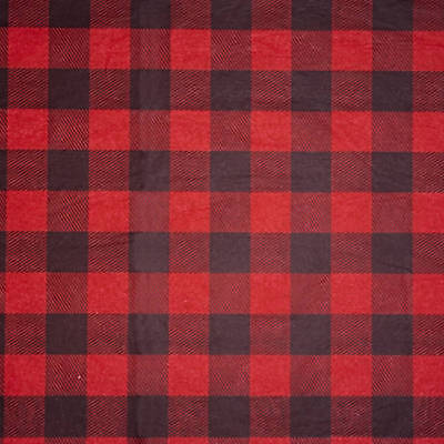Lumberjack Red & Black Plaid Checkered Tissue Paper Gift Wrapping 15