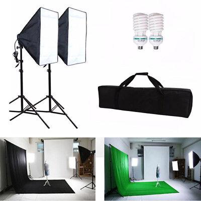 Fotostudio Studioleuchte Studioset Softbox ALU Studiolampe Stativ Photo 2x 105W