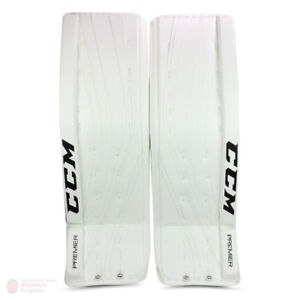 "SAVE $1000 new CCM Premier hockey goalie pads 34"" equipment used"