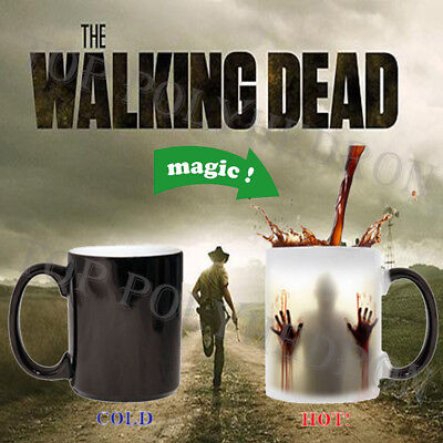 Heat Changing Color Mug Walking Dead Cup Coffee Sensitive Magic Halloween - Halloween Coffee Cups