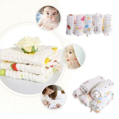 5pcs Baby Handkerchief Square Towel Muslin Cotton Infant Face Towel Wipe Cloth