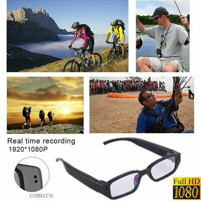 Black HD 1080P Eyewear DVR Video Recording Camera Glasses Hidden Camcorder Cam