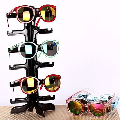 6pair Sunglasses Display Rack Eyeglass Glasses Frame Stand Organizer Show Holder