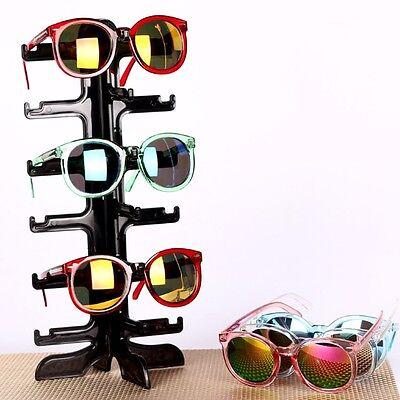 6Pair Sunglasses Display Rack Eyeglass Glasses Frame Stand Organizer Show Holder
