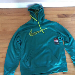 New green Nike hoodie with tags size large