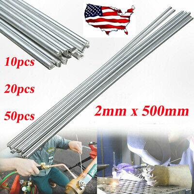 50pcs Low Temperature Aluminum Welding Solder Wire Brazing Repair Rods 2mm Us