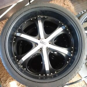 "26"" Rims with Rubber"