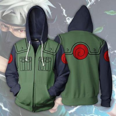 Naruto Shippuden Kakashi Costume Hoodie Jacket Sweatshirt For Halloween Cosplay - Naruto Costums