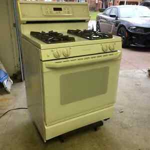 GE Profile Gas Oven and OTR Microwave