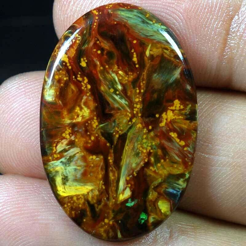 100% Natural Chatoyant Pietersite Gemstone Oval Cabochon 20 X 31 X 03mm 21.05Cts