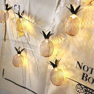 Pineapple LED String Light Lantern Party Wedding Decor Waterproof Outdoor Lamp (String Lantern Lights)