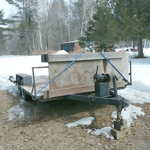 Trailer - Double Axle, Electric Brake 8x14 with 10,000lb Winch