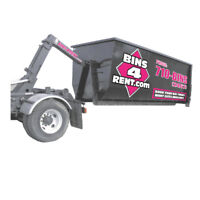 Waste disposal dumpster bins for rent to contractors or public