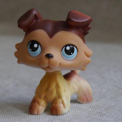 #58 Brown Collie Colley Dog Pubby LITTLEST PET SHOP LPS mini Action Figure