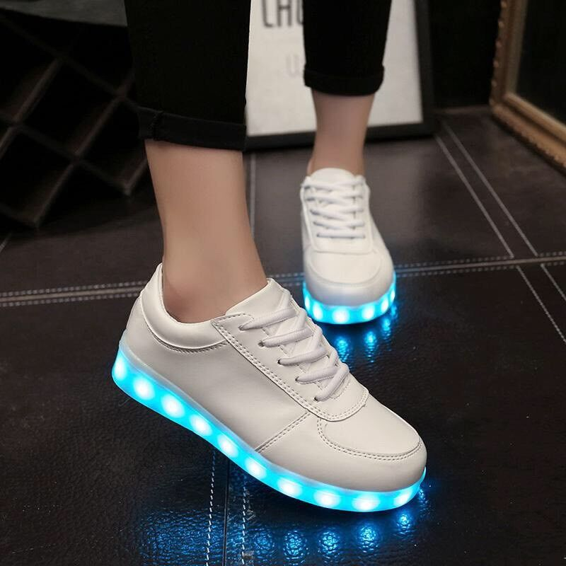 Unisex usb led colour trainers with lights and charger  9f71f0b84
