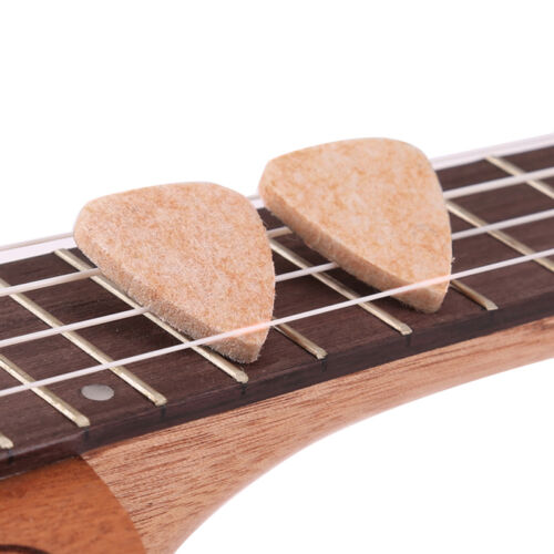New 5pcs Ukulele Wool Felt Finger Picks Soft Hard 3MM Mandol