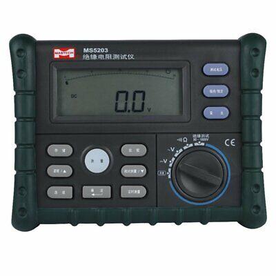 Mastech Ms5203 Digital Insulation Resistance Tester Multimeter 10g 1000v