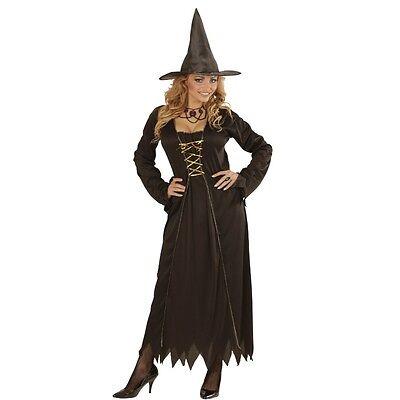 WOW HEXEN KOSTÜM für Damen 38/40 (M) Halloween Hexenkostüm schwarz Hexe 0432