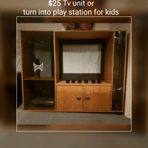 Tv unit or turn into kids play station.