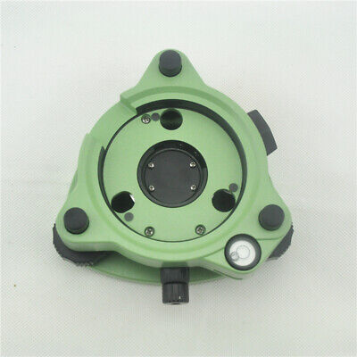New Green Three-jaw Tribrach With Optical Plummet For Total Station Prism