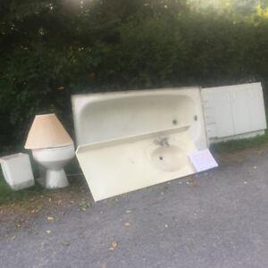 FREE:  Tub, Toilet, Vanity, Vanity top and Light.