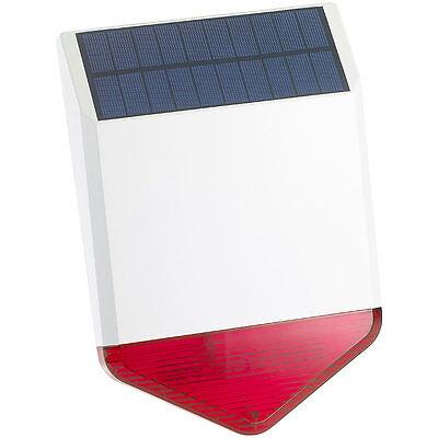 VisorTech Autarke Solar-Funk-Alarmalage mit Sirene und Licht-Warnsignal, 110 dB