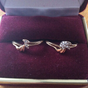 14k yellow gold ring set size 7 ( with diamond)
