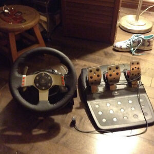 *** LOGITECH STEERING WHEEL AND PEDALS***