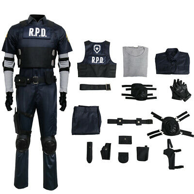 Resident Evil 2 Remake Biohazard Re:2 Leon Scott Kennedy Cosplay Police Costume - Leon Kennedy Halloween