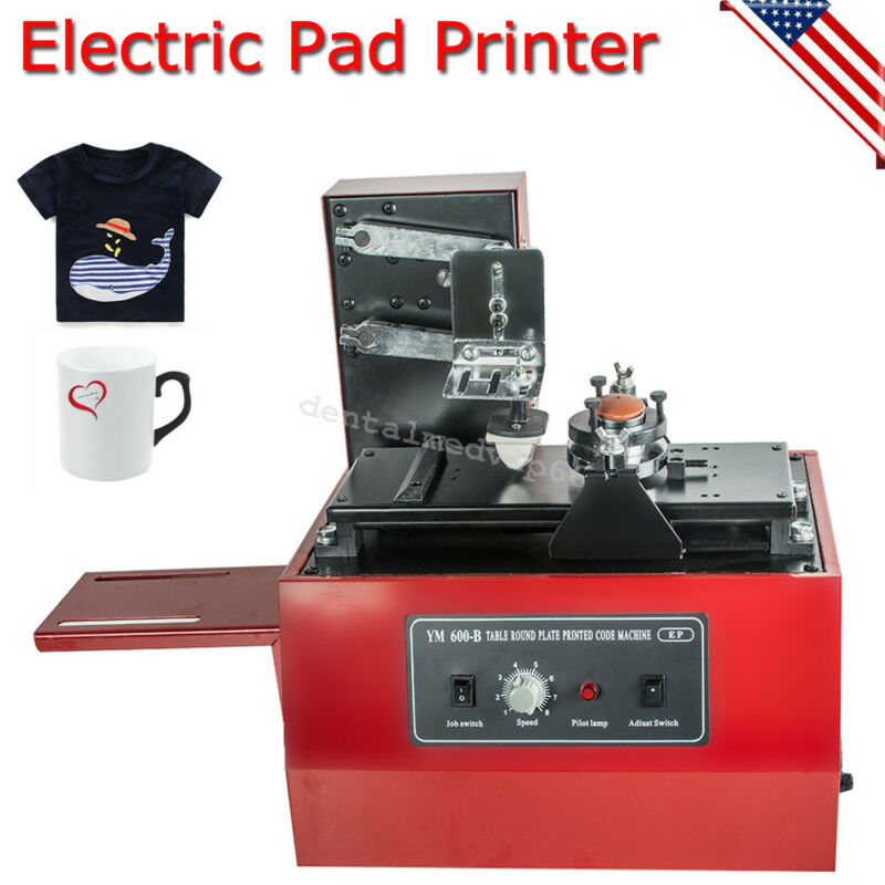 ELECTRIC PAD PRINTER PRINTING MACHINE T-SHIRT BOTTLE CUP INKPRINT LOGOS CODING