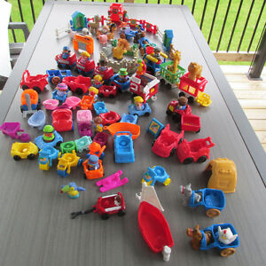 FISHER PRICE LITTLE PEOPLE FIGURINES ANIMAUX VEHICULES ++LOT 103