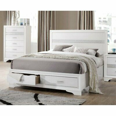 Coaster Miranda Queen Storage Panel Bed in White