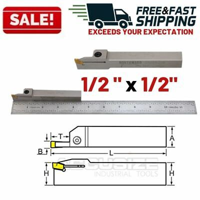 12 Indexable Tool Holder Shank Lathe Grooving Cut Off Heavy Duty Nickel Plated