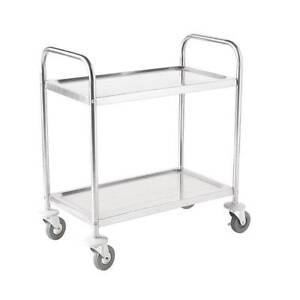 Trolley Large Stainless Steel 2 Tier - Catering Equipment Campbellfield Hume Area Preview