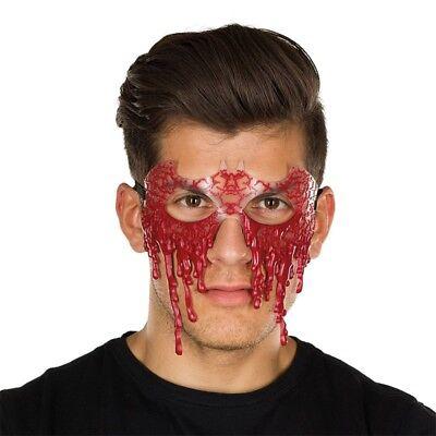 Kostüm-Zubehör Blutige Maske Blut Karneval Fasching Neu