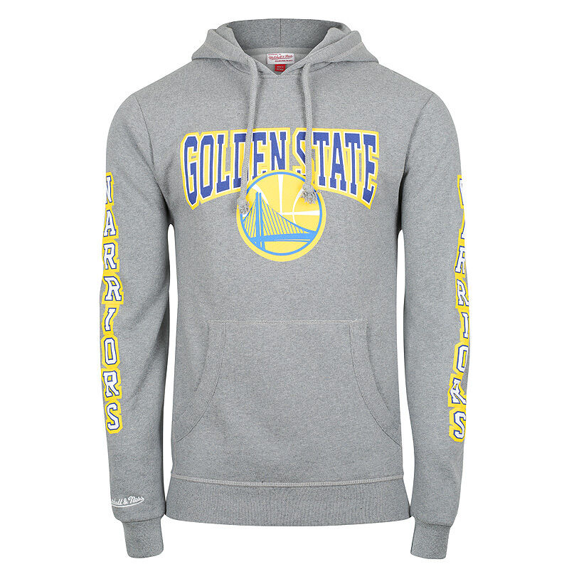 Mitchell /& Ness Golden State Warriors Team Arch Hoody Hoodie Sweater Mens