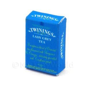 Miniatura-Per-Casa-Delle-Bambole-Twinings-Donna-Grigio-Scatola-Da-Te