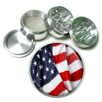 (American Flag D13 Aluminum Herb Grinder 2.5