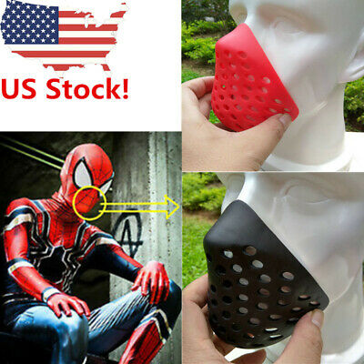 US Spiderman Mouth Faceshell Non-Toxic Breathing Soft Rubber Red Black Half Mask](Masquerade Masks Red)