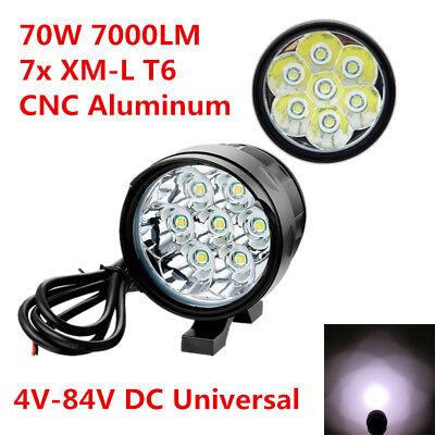 70W 7000LM 7x XM-L T6 LED Aluminum Motorcycle Spot Work Light Driving Fog Lamp