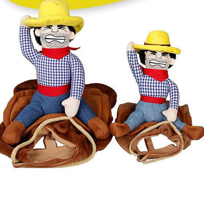 Funny Pet Dog Riding Horse Rodeo Cowboy Costume Halloween Party Costume Clothes](Dog Cowboy Halloween Costumes)