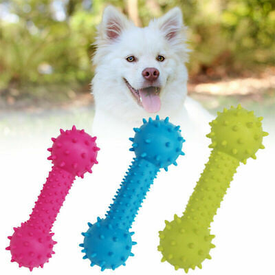 New Dog Pet Safety Chew Toys Bite-Resistant Puppy Durable Rubber Dental Teeth UK