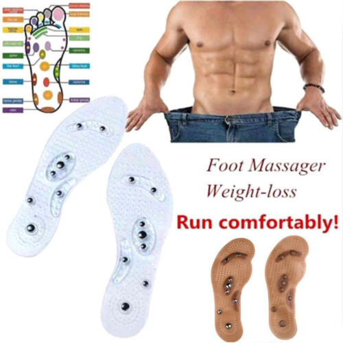Acupressure Magnetic Massage Insoles Foot Therapy Reflexology Pain Relief CA