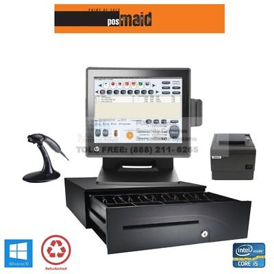 Retail Pos System With Maid Software Complete - Windows 10 8gb I5 Cpu Hp Pos