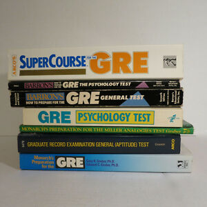 Lot 7 Graduate Record Exam GRE Books Psychoogy etc.