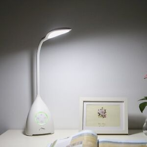 Rechargeable LED Gooseneck Lamp with Fan-Dimmer-Timer NEW!