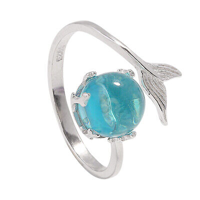 Personality Tail Mermaid Fish Whale Ring Band Wrap Open Rings Women Jewelry Gift](Mermaid Gift Wrap)