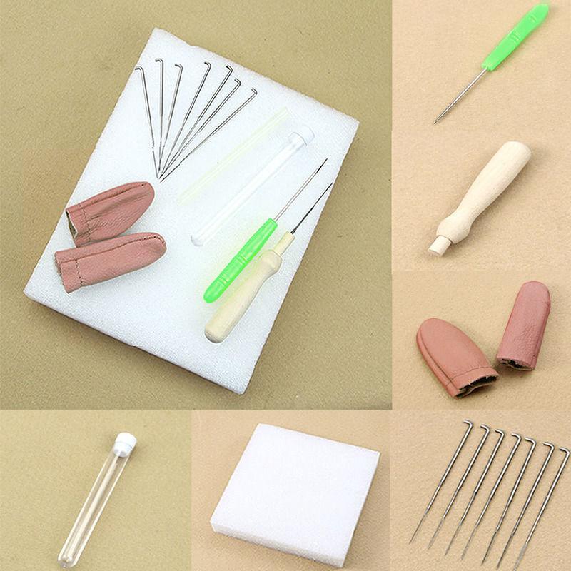 как выглядит 1Set Needle Felting Starter Kit Wool Felt Tool Mat Accessories Craft Needles S99 фото